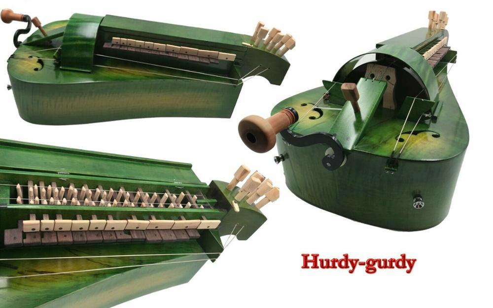 Parte trasera de madera de Arce, 6 cuerdas, 24 llaves, color verde