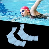 1 pcs women men kids silicone material swim gear fins hand web flippers training diving gloves webbed gloves for swimming