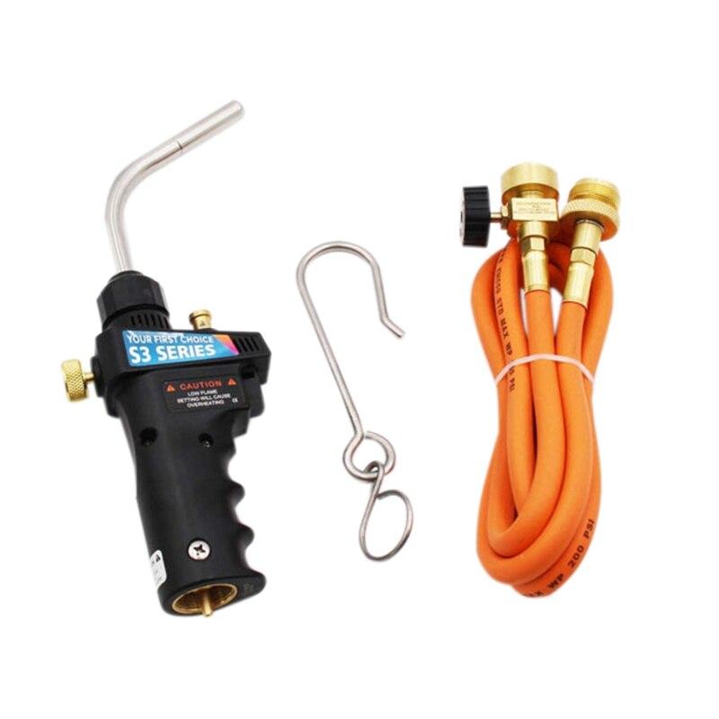 ل Mapp الغاز لحام الشعلة الزناد بدء الشعلة الذاتي الإشعال الزناد 1.5 متر خرطوم لجميع لحام