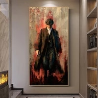 peaky blinders art posters and prints portrait of tommy shelby canvas painting pictures on the wall art decoration home decor