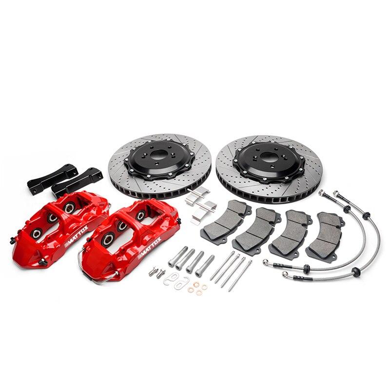 Kit de freno grande de coche Mattox 405*34mm disco grande 6POT pistón pinza Rotor de freno para BMW E60 E61 E63 E64