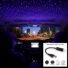 1 Pcs Led Auto Dak Star Night Light Projector Sfeer Galaxy Lamp Auto Usb Decoratieve Lamp Verstelbare Meerdere Lichteffecten