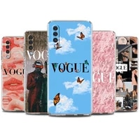 vogue aesthetic case for samsung galaxy a70 a50 a40 a30 a20 a10 phone cover m80s a20e a20s a10e a10s silicone transparent couqe