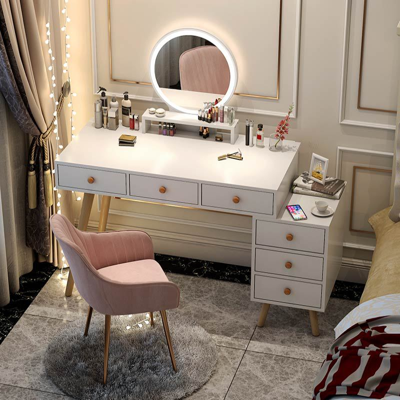 Стол и туалетный столик светильник роскошный туалетный столик для спальни современный минималистичный шкаф для хранения интегрированный ...