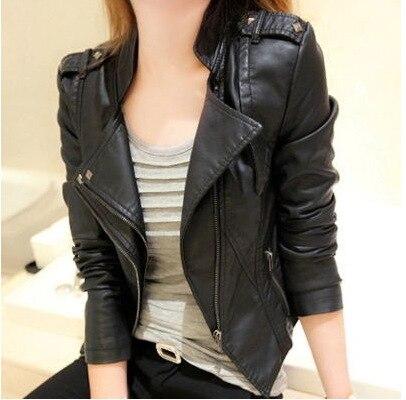 ¡Novedad! Abrigo corto ajustado de piel sintética para motocicleta, abrigo corto de talla grande para mujer, chaqueta pequeña de piel, chaqueta de piel de tendencia para mujer, chaqueta de motociclista