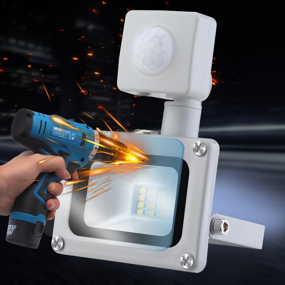 10w led projector smd lâmpada ao ar livre mit bewegungsmelder branco fresco ip65 à prova dwaterproof água