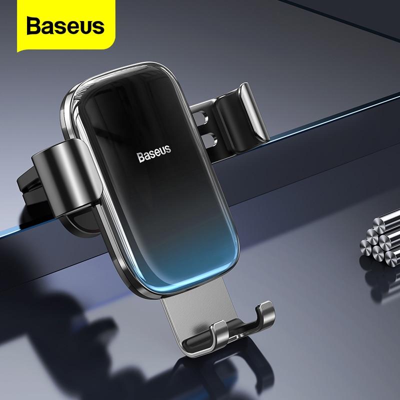 Soporte de teléfono de coche con ranura para CD Baseus soporte de montaje de gravedad para coche para teléfono en coche para iPhone Samsung Xiaomi soporte de teléfono móvil para coche