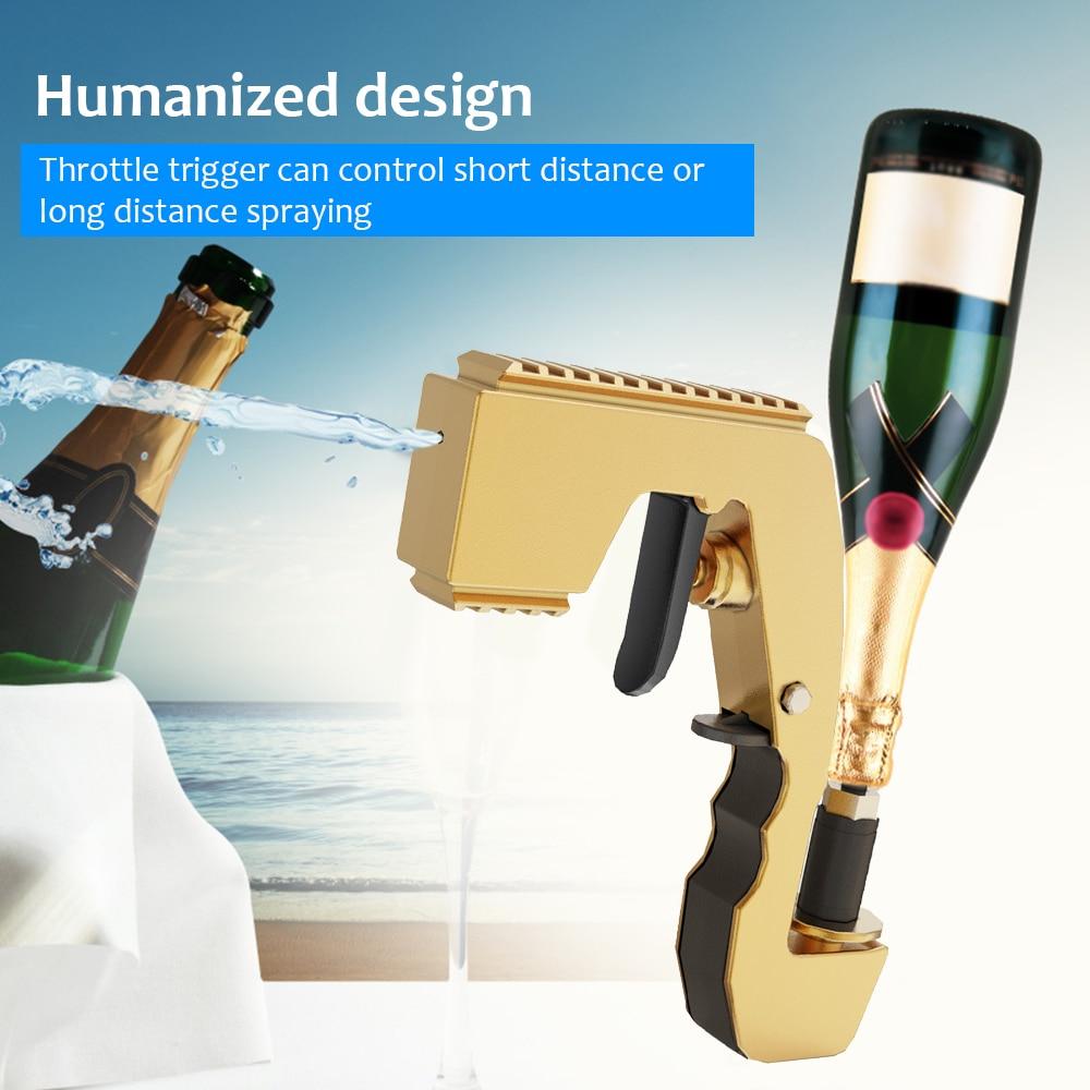 Champagne Wine Dispenser Bottle Beer Ejector Feeding Bottle Beer Spray Gun Bottle Cap Wine Stopper Ejector Feeding Wine Stopper