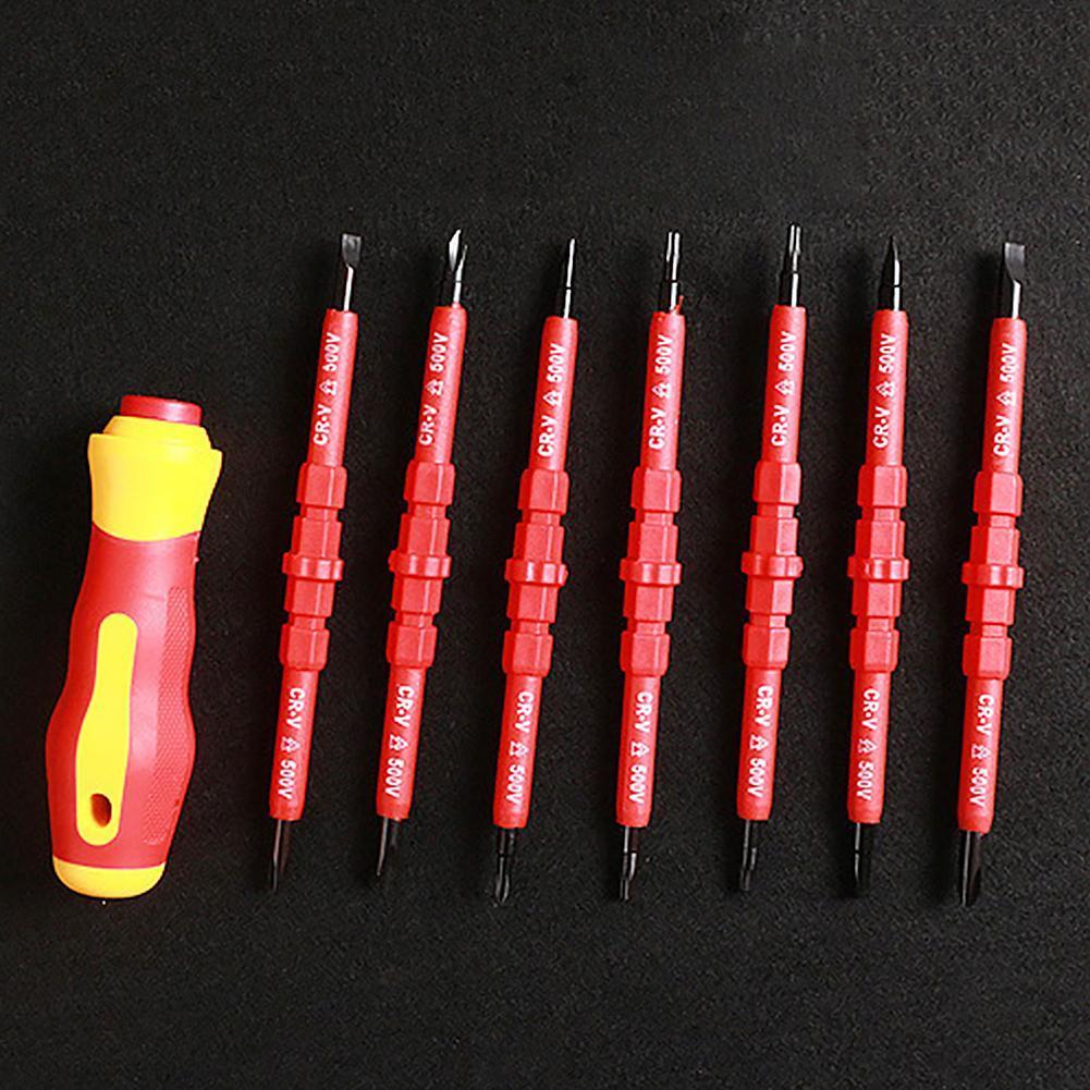 7 piezas de Herramientas eléctricas con aislamiento eléctrico de una sola cabeza...