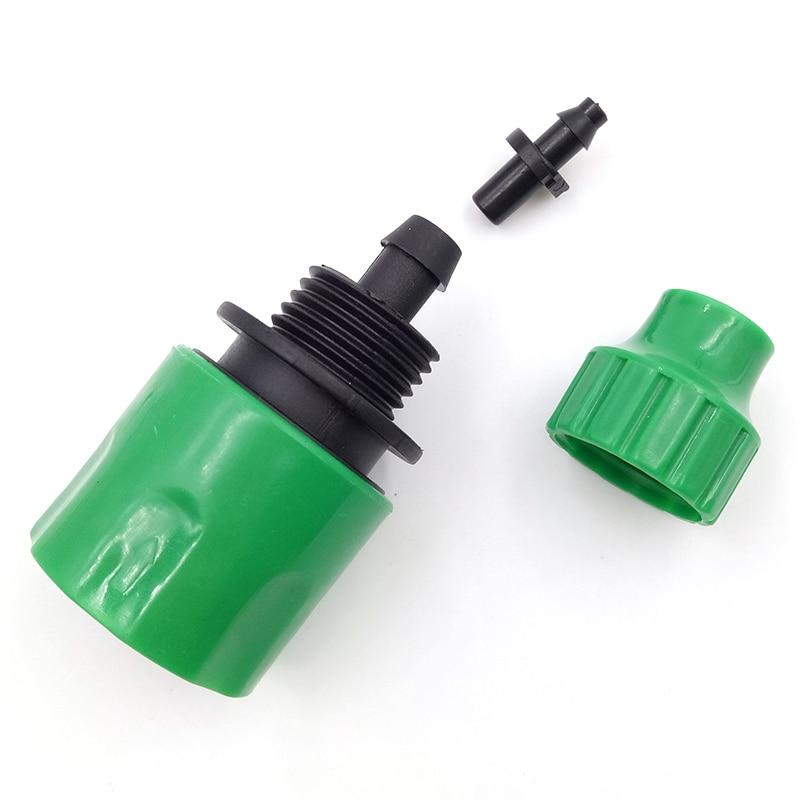 Adaptador de conector de agua Quick Tap adaptador de acoplamiento rápido cinta de goteo 4/7mm u 8/11mm conector para manguera de riego herramienta de jardín