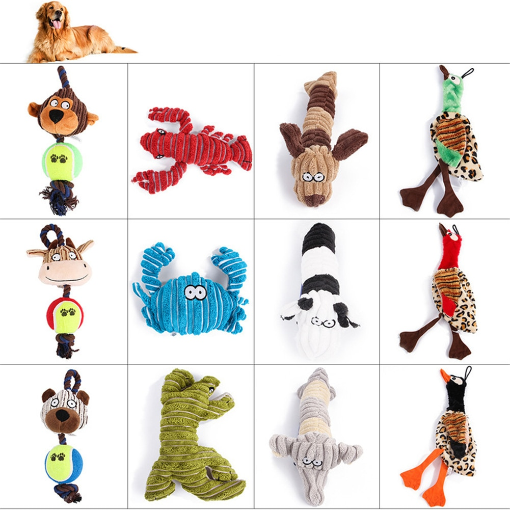 Dog Molar Toy Bite Resistant Pet Chew Squeak Toys Cute Plush Animal Shape Sound Toy Puppy Interactive Training Biting Toys new funny sounding toy hand pinch toy pet toys sound dog toys molar bite resin simulation plastic beer bottles