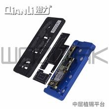 Qianli 메인 보드 중간 레이어 BGA Reballing 스텐실 플랜트 Tin 플랫폼 로직 보드 iPhone X XS XSMAX 11 pro max 용 재 작업 도구