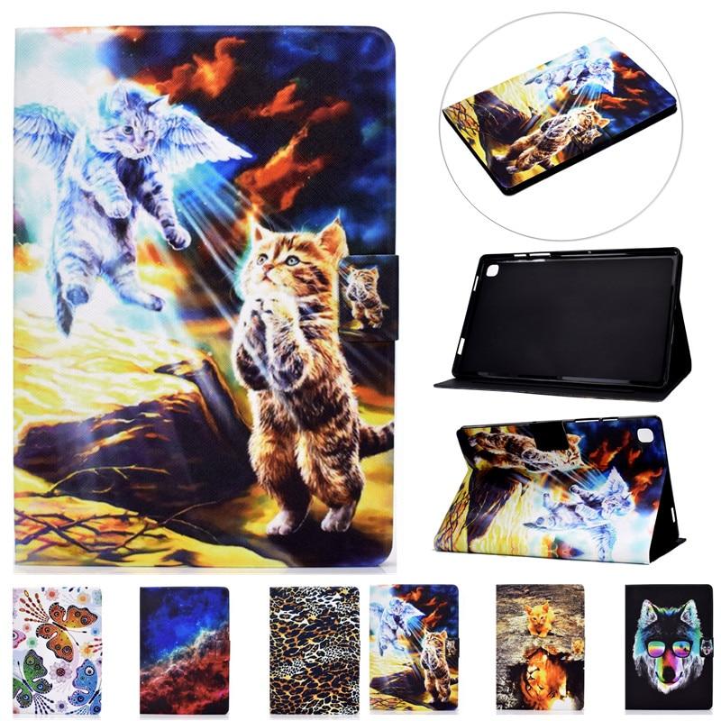 """Funda Para iPad Air 4 Air4 Gen 10,9 2020, con estampado de animales, Lobo, gato, soporte Para tableta, 2020, 2018 Pro, 11"""""""