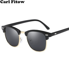 Half Metal Polarized Sunglasses Men Women Brand Designer Glasses Mirror Sun Glasses Fashion Gafas Oc