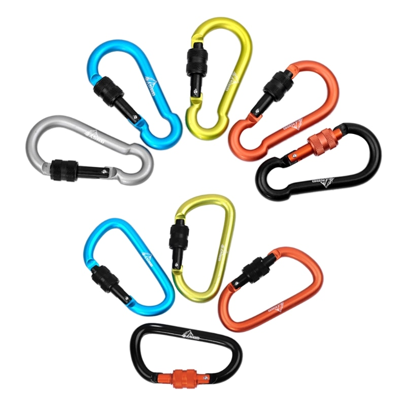 Aluminum Alloy Carabiner Keychain Outdoor Camping Snap Clip Lock Backpack Buckle