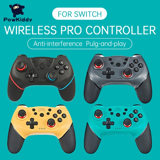 POWKIDDY For Switch NS Game Wireless Bluetooth Vibration Controller Remote control lever 2