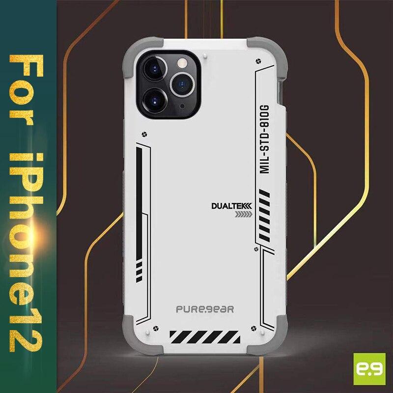 PureGear-حافظة واقية صلبة وشفافة لجهاز iPhone 12 Pro ، درع هوائي ، شفاف ، فاخر ، شفاف