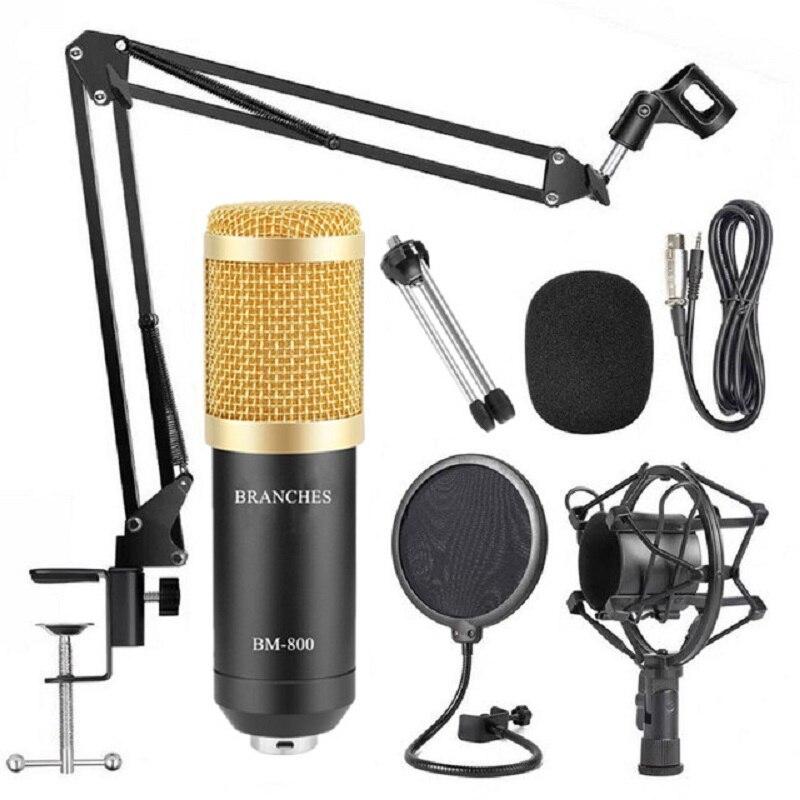 ميكروفون مكثف احترافي BM 800 ، للتسجيل في الاستوديو ، ويوتيوب ، وفيديو سكايب ، والدردشة ، والألعاب ، والبودكاست