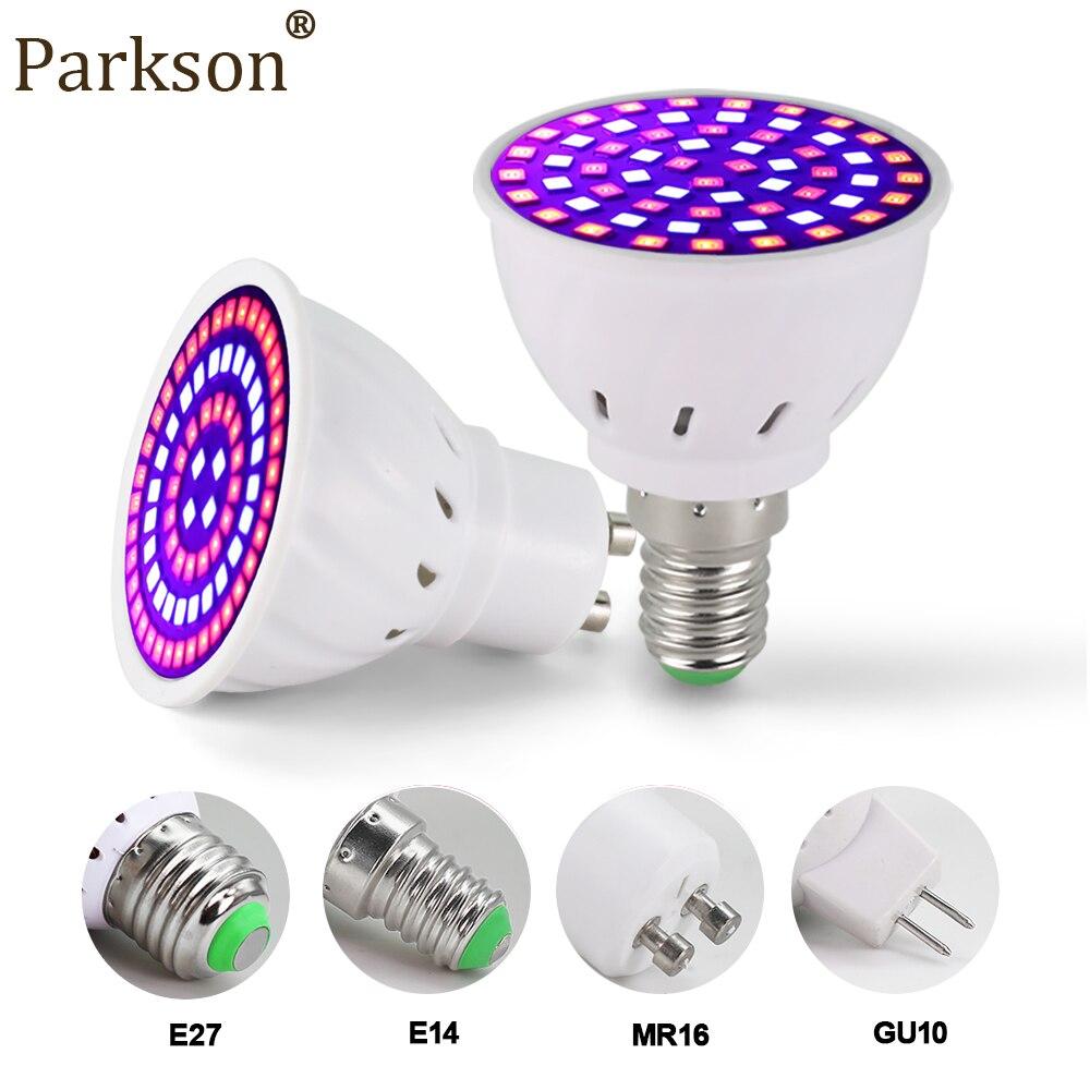 Led Groeien Volledige Spectrum Lamp E27 E14 GU10 MR16 220V Greenhouse Hydroponic Lamp Grow Light Voor Indoor Plant 230V Phyto Bloem Lamp