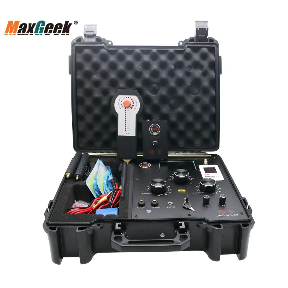 Maxgeek كاشف معادن طويل المدى, جهاز كشف الذهب تحت الأرض مع Degausser EPX10000