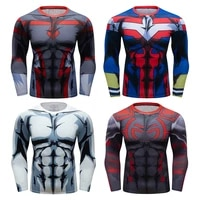 compression fitness shirt mens long sleeve jogging running sweatshirt quick dry tight exercise sport t shirt workout gym shirt