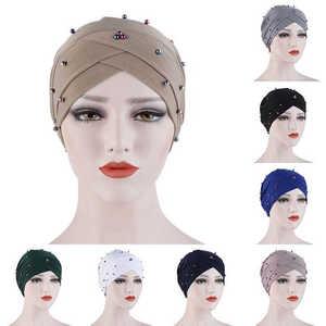Womens Muslim Hijab Cancer Chemo Flower Print Hat Turban Cap Cover Hair Loss Head Scarf Wrap Headwear