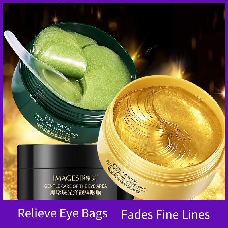 60pcs Gold Bright Eye Mask Hydrating Moisturizing Dilution Dark Circle Anti-Aging Collagen Patches Skin Care Eyes Masks