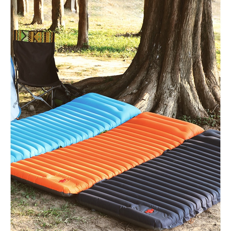 Self-Inflated Camping Tent Mat 10cm Thick Outdoor Picnic Pad Moisture-proof Camp Tent Beach Cushion Splicable Tent Air Mattress
