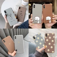 soft tpu phone case for iphone 12 pro mini xr xs max 7 8 6 6s plus se 2020 cartoon animal cover for iphone 11 pro shell fundas