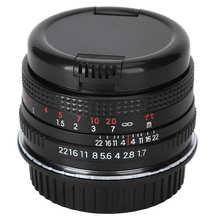 50mm F1.7 plein cadre grande ouverture Portrait objectif de mise au point manuelle pour appareil photo reflex Nikon F Mount