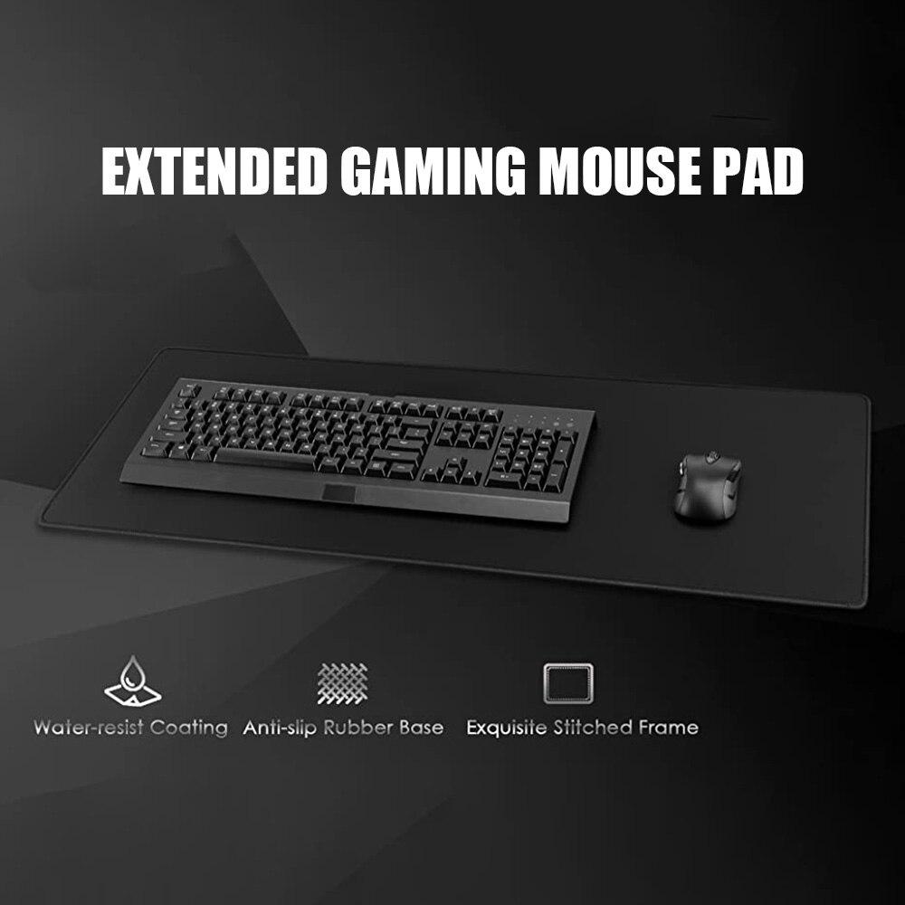 Коврик для мыши с прошитыми краями, большой Нескользящий Резиновый базовый Коврик для компьютерных игр, офиса, дома