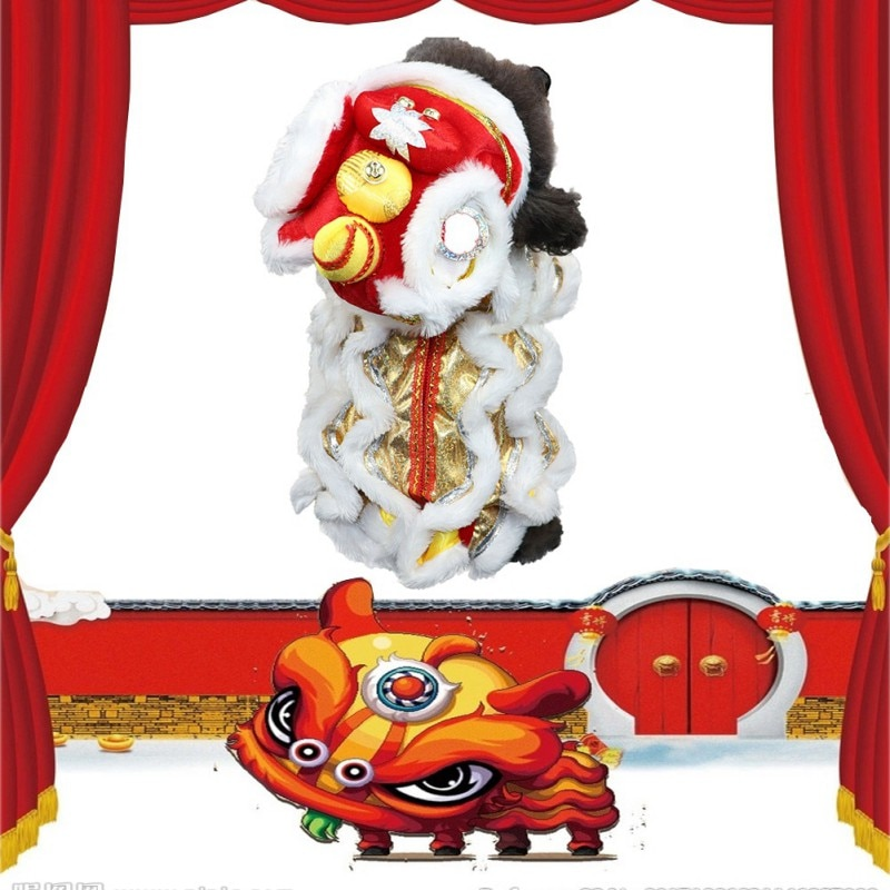 Pet Dogs Costume Cat Clothes Chinese Traditional Culture Clothing Puppy Festive Cosplay Costume Wear For Chinese New Year 2021