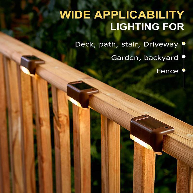 Светодиодные светильники для лестницы на солнечной батарее, водонепроницаемые фонари для протектора, подходят для уличных лестниц, заборо...