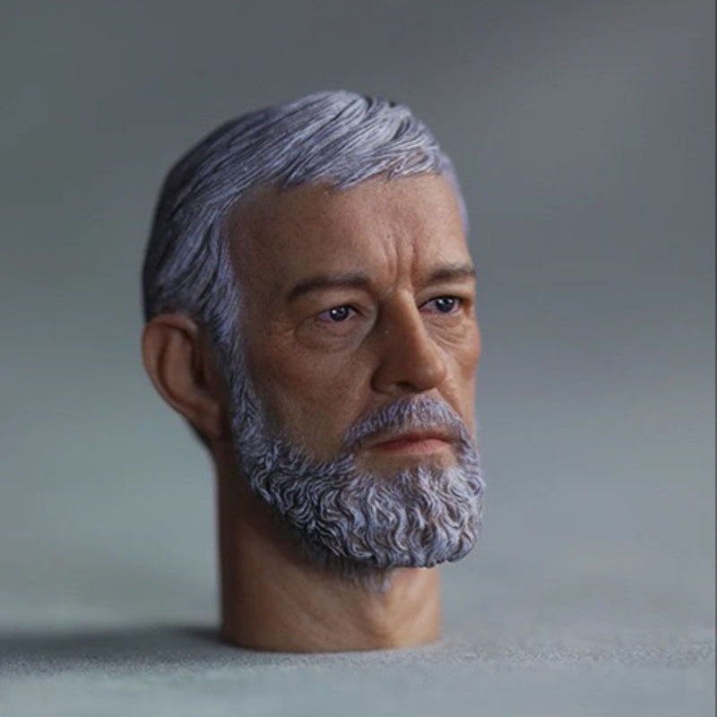 1/6 Obi- Wan Head Sculpt Alec Guinness Head Carving For 12 Male Action Figure Body 1 6 scale marlon brando head sculpt the godfather corleone head carving for 12 inches male figure body with gift