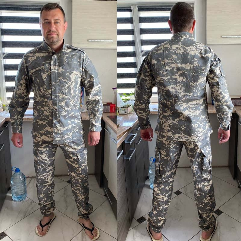 Купить с кэшбэком Military Uniform Tactical Men's Airsoft Paintball Hunting Cloth Combat Camouflage Militar Soldier Special Forces Coat+Pant Set