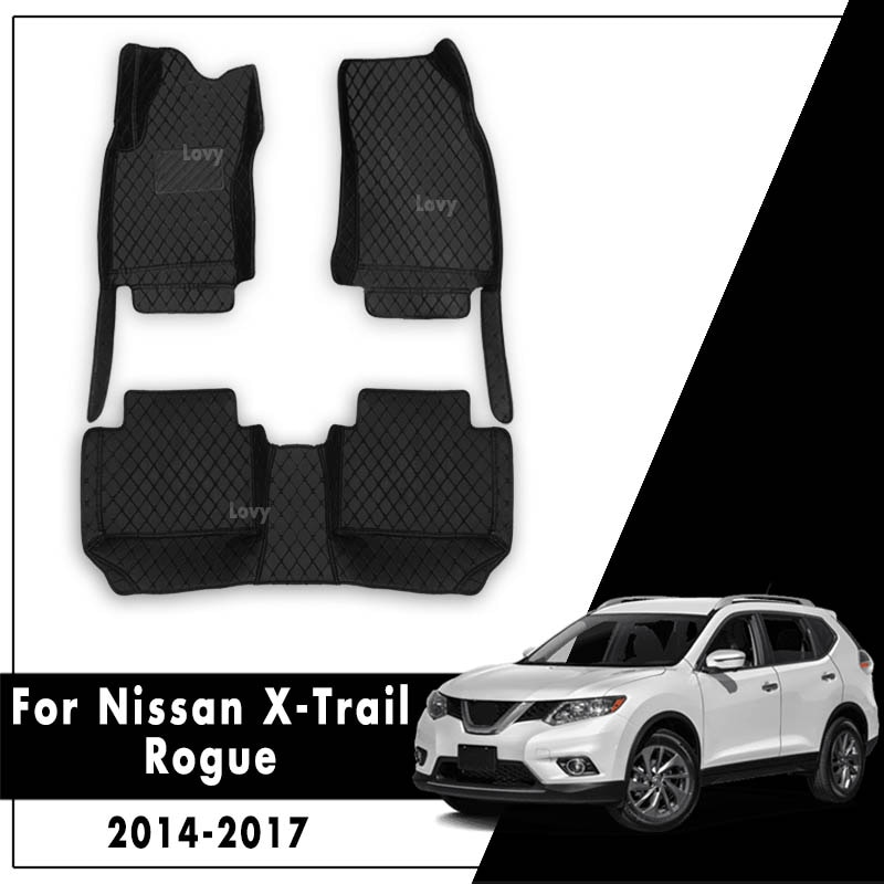 Кожаные Автомобильные ковры, авто интерьер, защищает автомобильные коврики для Nissan X-Trail Rogue T32 2014 2015 2016 2017 xtrail