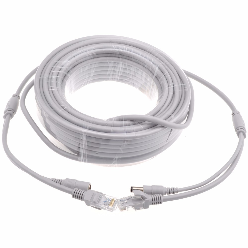 5M/10M/15M/20M/30M RJ45 Ethernet CCTV Cable Cat5e DC Power Cat5 Internet Network LAN Cable Cord PC Computer For IP Camera System enlarge