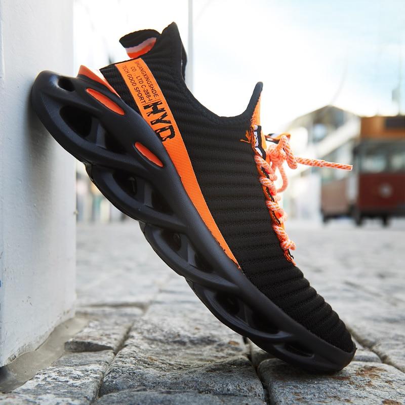 Купить с кэшбэком Breathable Sneakers 46 Comfortable Mesh Men Sport Shoes 47 Outdoor Non-slip Wear-resistant Casual Running Shoes Big Size 48