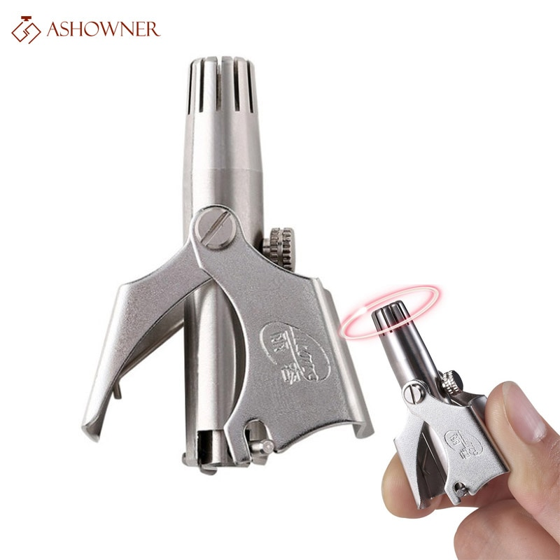 Nose Trimmer for Men Stainless Steel Manual Trimmer for Nose  Razor Shaver Washable Nose Ear Hair Trimmer