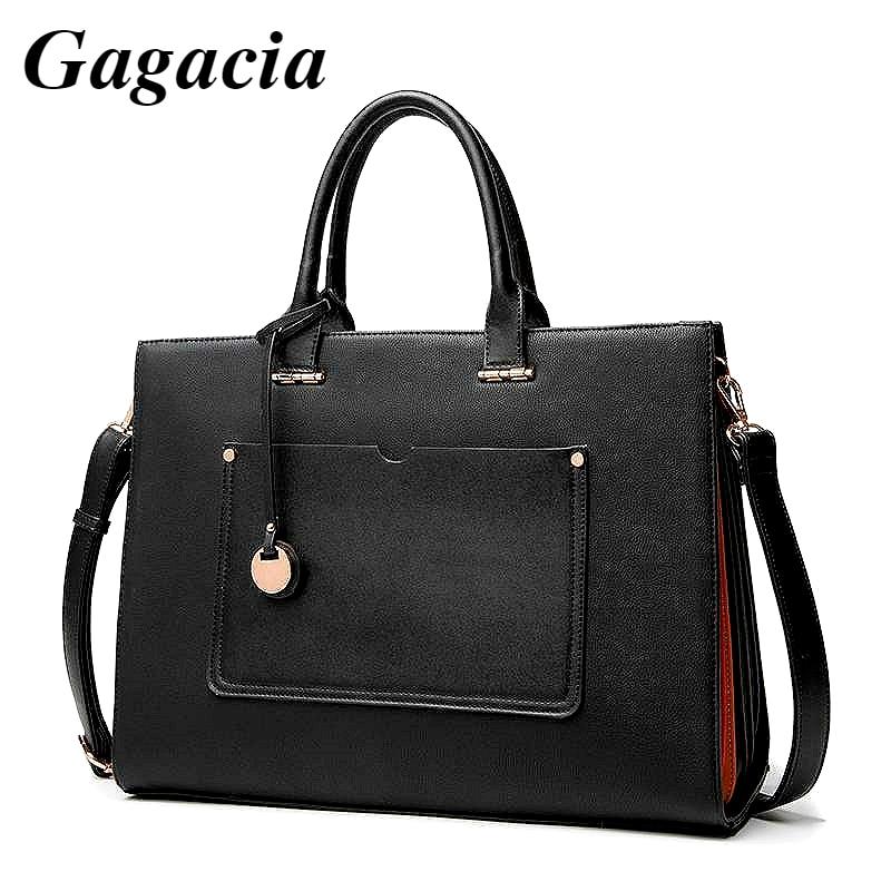 GAGACIA حقيبة كمبيوتر محمول جديد حقائب للنساء موضة مكتب العمل حقيبة يد السيدات الأعمال حقيبة ل 14 بوصة الكمبيوتر المحمول A4