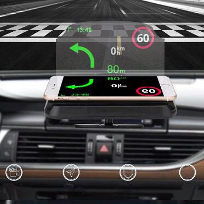 Автомобильный складной GPS HUD дисплей, кронштейн для проектора-навигатора, держатель для телефона, мобильный телефон, подставка для сотового ...