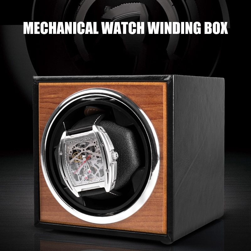 USB Power Supply Black Mechanical Watch Winding Box Motor Shaker Mini Watch Winder Holder Display Je