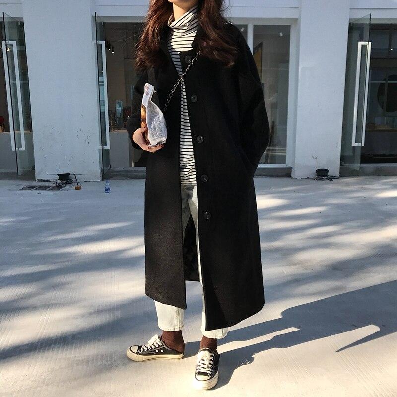 Abrigo de mezcla de lana de invierno para mujer, chaqueta de manga...