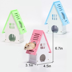 Hamster House Swing Toy Slide Hamsters Nest Loft Bed Cage Nest Pet Castle Climb Toys Small Pet House