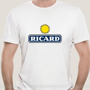 Men 2021 Fashion t-shirt Ricard s Short Sleeves Tee Clothing funny novelty women