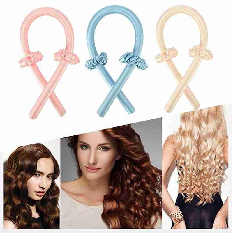 Фото - Бигуди для волос, спиральные мягкие бигуди для завивки волос, волшебные бигуди «сделай сам» для завивки волос на ночь, бигуди для сна, инстру... мягкие бигуди di valore 301 244