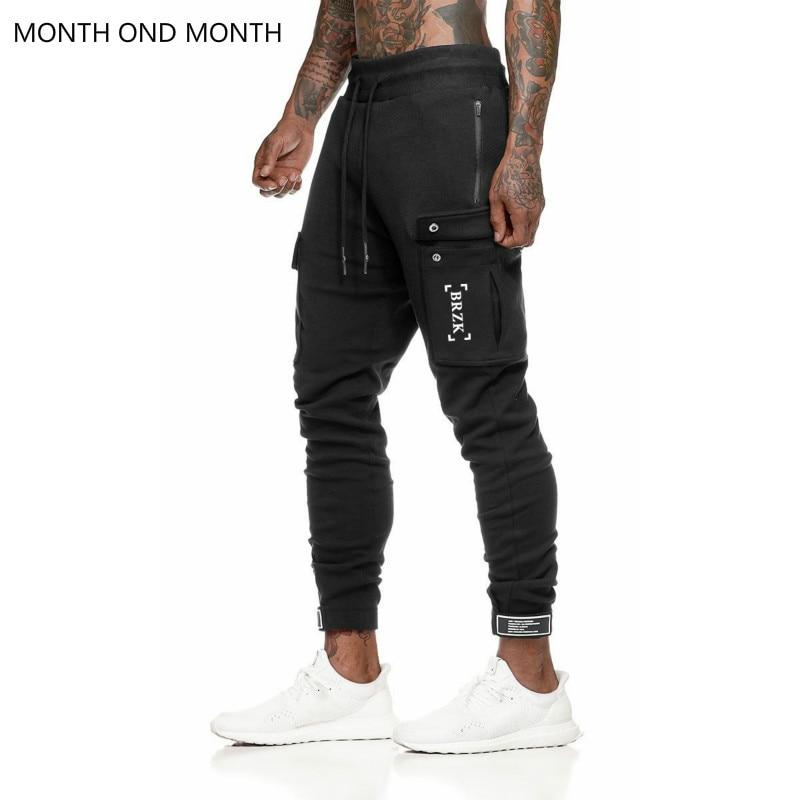 Casual Joggers Pants Mens Sporty Cotton Sweatpants Fitness Workout Trousers Simple Pocket Stylish Sweat Male Long Pencil Pants