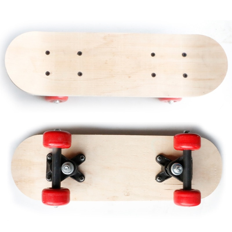 Four-wheel skateboard maple double-sided blank board long double rocker non-printing DIY parts