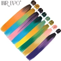26pre stretched expression braiding hair box braids crochet hair ombre synthetic ez braid hair extensions low temperature fiber