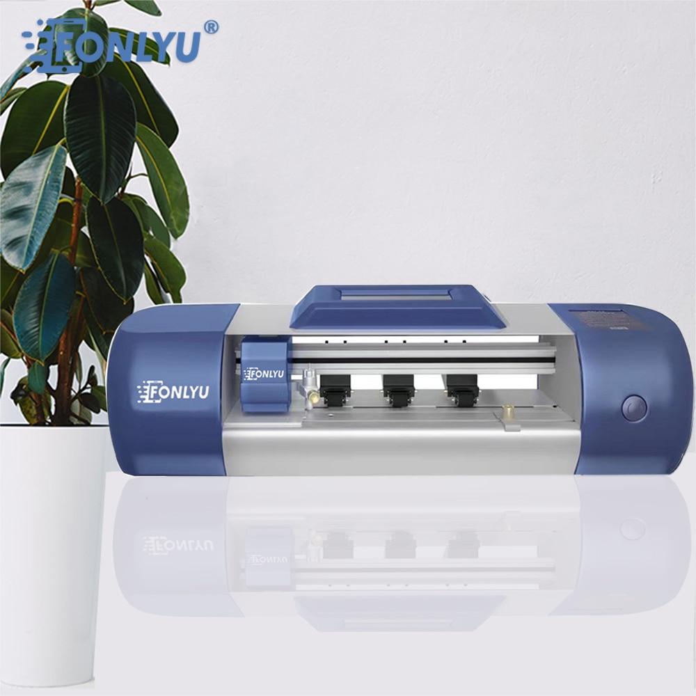 FONLYU F200 واي فاي نسخة الراسمة فيلم آلة قطع لوحة الهاتف شاشة أمامية الشرائط الهيدروليك واقية فيلم الخلفي القاطع